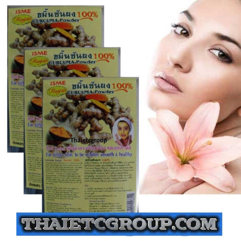 3 Turmeric Curcuma Longa Powder Natural 100% Detox skin whiten smooth Face mask