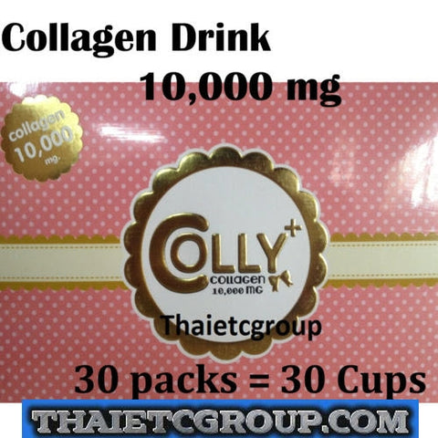 COLLY PINK PLUS Collagen Dietary Drink Strawberry Collagen peptide 10000mg x 30