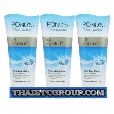 3 Pond's Clear Balance Solution Oil Control Skin Mattifying Facial Foam Wash