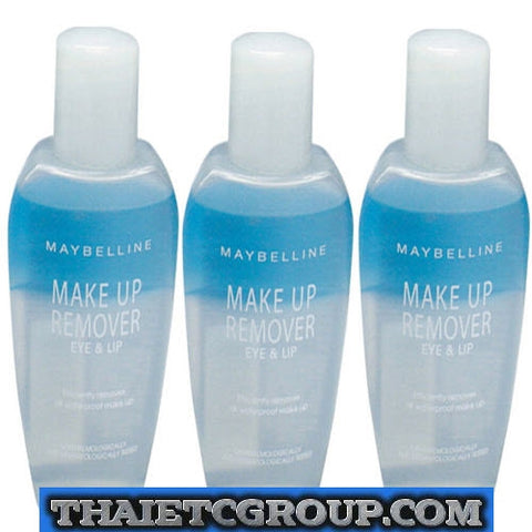 3 x 70ml MAYBELLINE NEW YORK EYE & LIP MAKE UP REMOVER REMOVE WATERPROOF MAKE UP