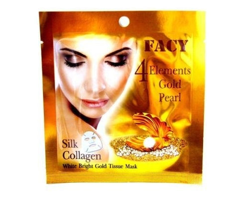 Facy 4 Elements Gold Pearl Silk Collagen White Bright Gold Mask 1 piece