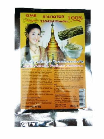 100% TANAKA WHITENING POWDER FOR ANTI-ACNE & REDUCE MELASMA NATURAL HERBAL MASK