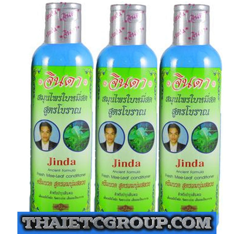 3 Jinda Herb Conditioner Mee leaf Ancient formula Help hair grow growth Natural