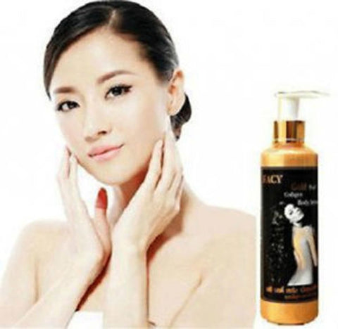 Facy Gold Pearl Collagen Body Serum Whitening Lightening Body Lotion 100ml