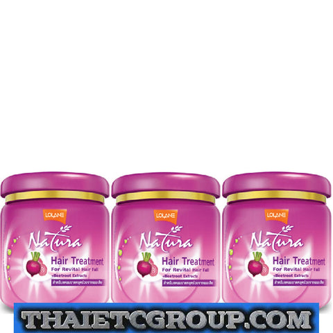 3 Lolane Natura Hair Treatment nourishing conditioner Revital Hair fall Beetroot