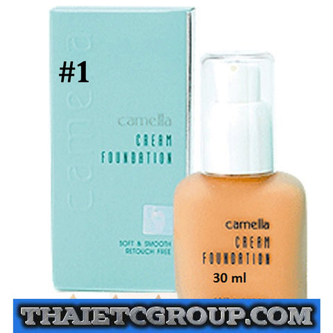 Camella Cream Foundation Lightweight Soft Smooth Retouch Free JAPAN # 1 30 ml