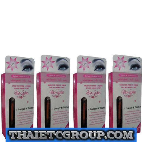 4 Bio-lash Natural Darker longer thicker Eyelash Eyebrow Stimulator Growth serum