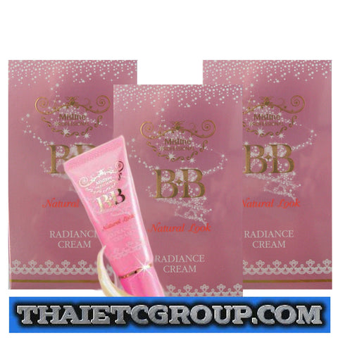 3 x MISTINE BB NATURAL LOOK RADIANCE CREAM Luminescent Technology SPF 30 PA++