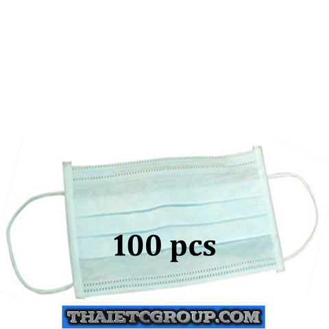 100 pcs 3-ply Disposable Surgical Ear Loop Face Anti Dust Mouth Cover Masks