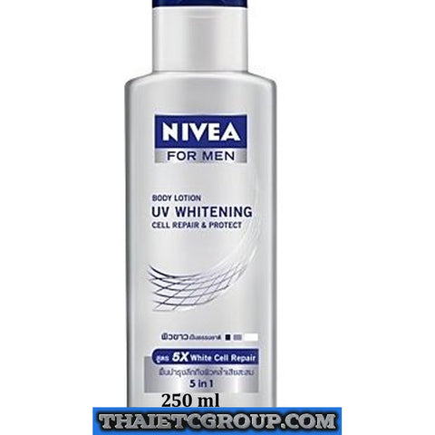 NIVEA FOR MEN BODY UV WHITENING WHITE CELL REPAIR & PROTECT LOTION 5 in 1 250ml