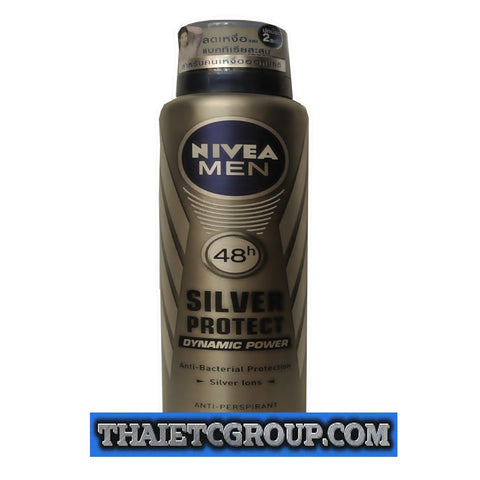 NIVEA FOR MEN SILVER PROTECT DEODORANT Spray Antiperspirant Refresh 150 ml