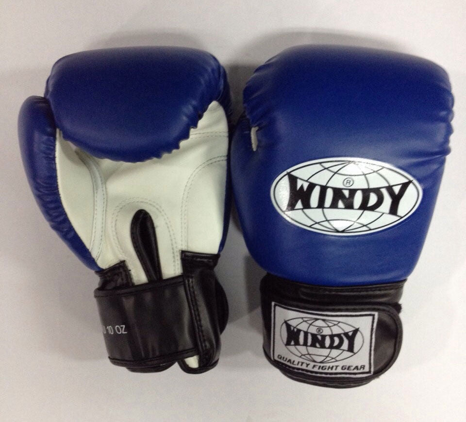 NEW WINDY MUAY THAI GLOVES KICK BOXING MMA BOXING SPARING FIGHTING 10 OZ -  BLUE