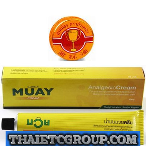 100 g Muay Thai Boxing Cream Balm Analgesic Liniment Golden Cup Balm Pain Relief