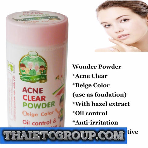 WONDER POWDER ACNE CLEAR Beige Color Oil Control Anti Irritation Sensitive Skin