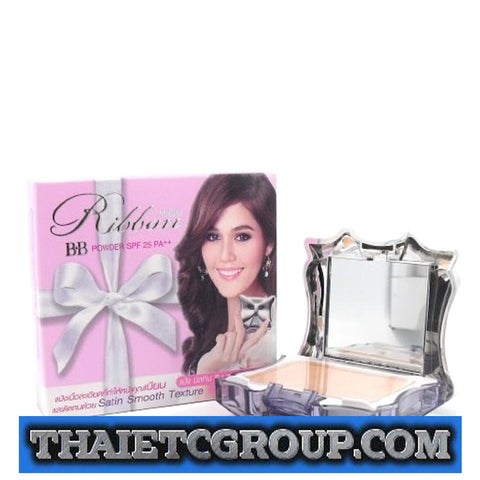 Mistine Ribbon BB Face Powder SPF 25 PA++ Satin Smooth Texture Asian skin