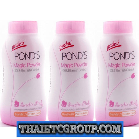 POND'S magic powder oil blemish control UV protection pink 3 x 50 grams