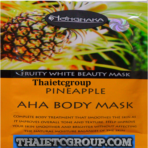 NONGNAKA Fruity White Beauty Mask Pineapple AHA Body Mask Whitening Lightening