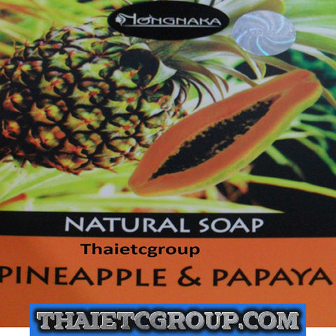 NONGNAKA Natural Fruity Soap Pineapple & Papaya Soap Whitening Lightening