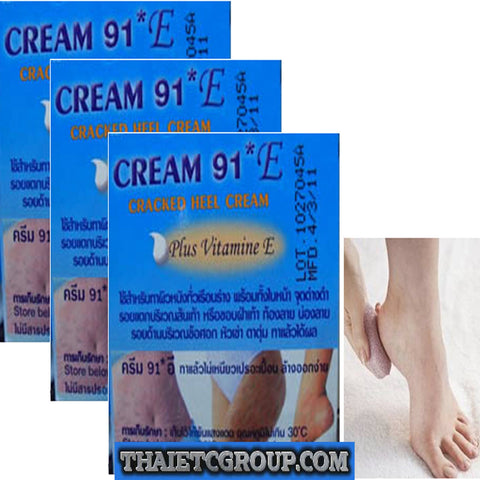 3 CREAM 91 E CRACKED HEELS PLUS VITAMIN E STRETCHMARKS DARK SPOTS KNEES ELBOWS