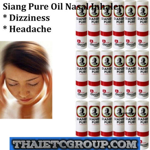 18 Siang Pure Oil NASAL INHALER DIZZY COLD SINUS RELIEVE CONGESTION RELIEF 2ml