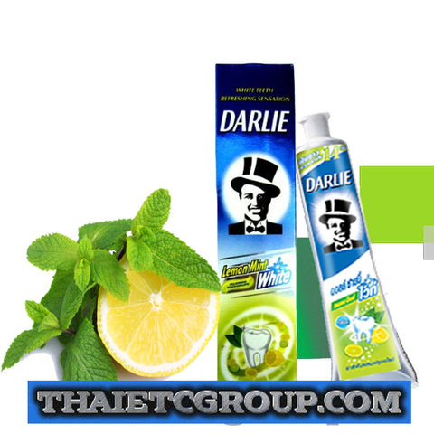 DARLIE WHITE TEETH LEMON MINT FLUORIDE TOOTHPASTE 160 Grams