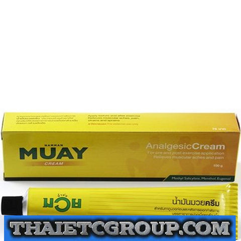 NEW MUAY THAI BOXING CREAM ANALGESIC BALM LINIMENT Massage Ointment 100 Grams