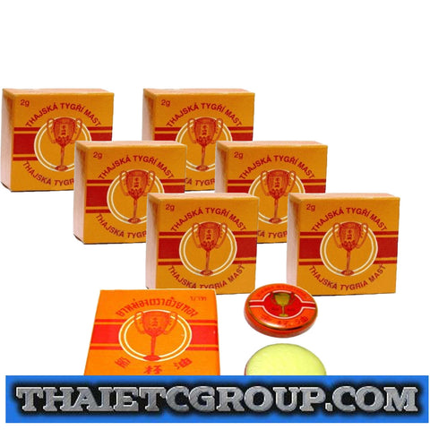 6 x 2g Golden Cup Balm muscular pain headache aches relief natural Thailand Thai