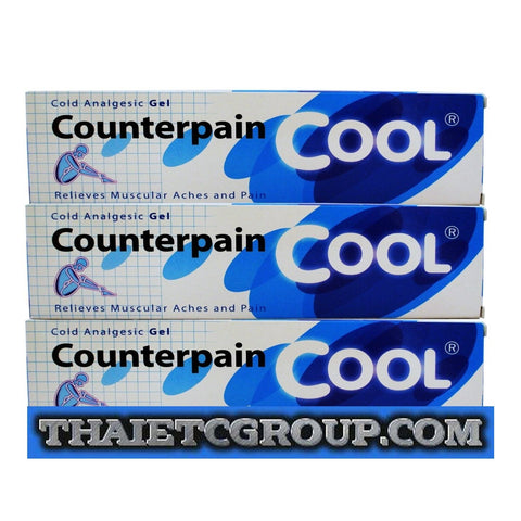 3x60 grams COUNTERPAIN COOL GEL ANALGESIC BALM MUSCLE PAIN RELIEF RELIEVES ACHES