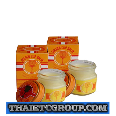 2 x12g Golden Cup Balm muscular pain headache aches relief natural Thailand Thai