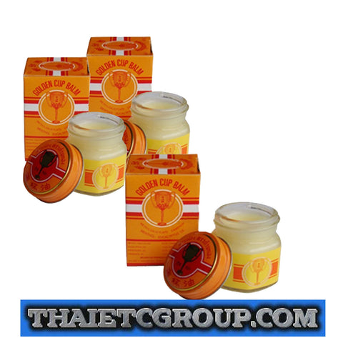 36 g Golden Cup Balm muscular pain headache aches relief natural Thailand Thai