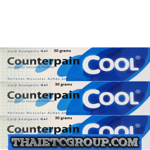 3 x 30 g COUNTERPAIN COOL GEL ANALGESIC BALM MUSCLE MUSCULAR PAIN RELIEF ACHE