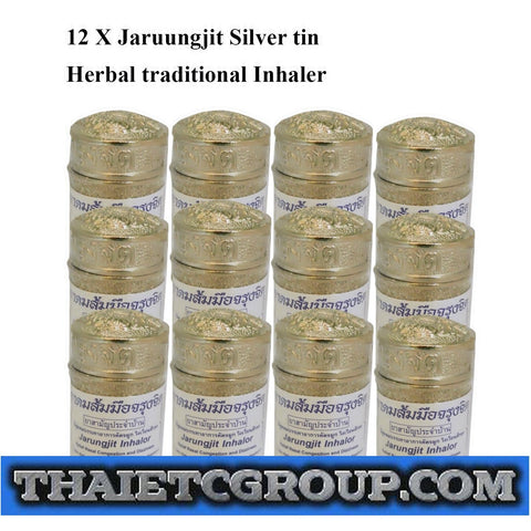 12 Jarungjit Thai Herbal Nasal inhaler Relief Dizziness Faint Decongestion