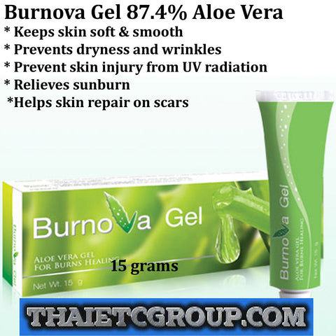 Burnova Gel A Aloe Vera heals Burn Wound treatment Redness swelling Retin