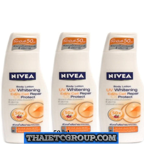 50ml NIVEA UV Extra Whitening Whiten Cell Repair Protect Body Lotion Vitamin C