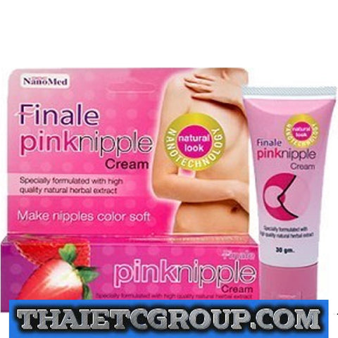 FINALE PINK NIPPLE CREAM HERBAL EXTRACT NANOTECHNOLOGY LIGHTENS THE NIPPLE 30g