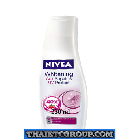 250 ml NIVEA UV Whitening Whiten White Cell Repair Protect Body Lotion Vitamin C