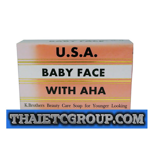 K Brothers USA SUPER BABY FACE AHA ORIGINAL FORMULA Whitening Soap HERCUMIN