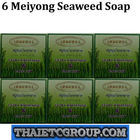 6 MEIYONG Mei Yong SEAWEED SOAP EXTRA WHITENING & FACE LIFT BATH BODY