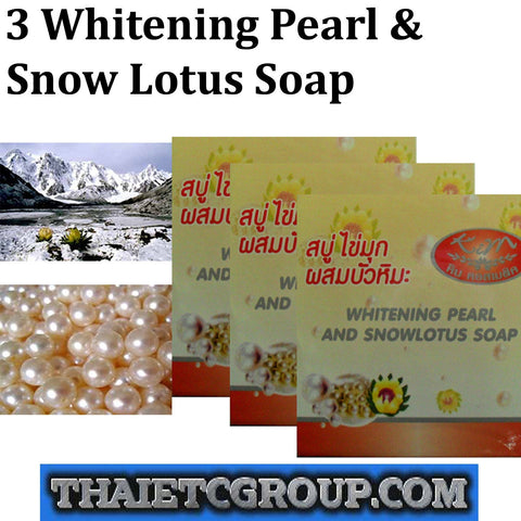 3 KIM WHITENING PEARL SNOW LOTUS SOAP FACE FACIAL SOAP BATH BODY LIGHTENING WASH