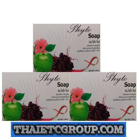 3 Phyto Stem Cell Soap for whitening Reduce spots Apple Coconut oil Extract