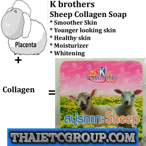 K Brother Bath & Body Sheep Collagen Whitening Herbal Soap Reduce Dark Spots