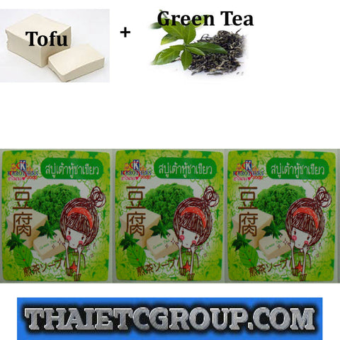 3 K Brothers Bath Body Tofu Secret Beauty Green Tea Whitening Anti Wrinkle Soap