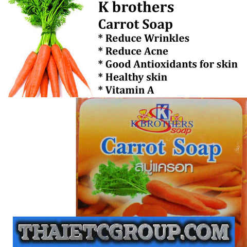 K Brother Bath Body Carrot Soap Reduce Wrinkle Acne Good Antioxidant