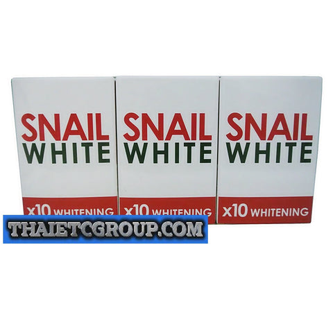 3 SNAIL SOAP x 10 whitening Retinol Arbutin Reduce Acne Brightening Face Skin