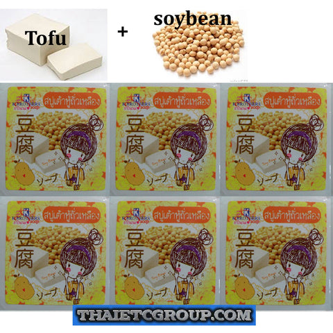 6 K Brothers Bath Body Tofu Secret Beauty Soy Bean Whitening Anti Wrinkle Soap