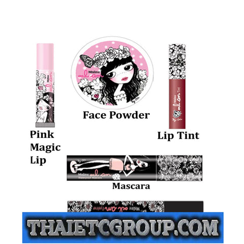 Mistine I AM COLLECTION SET YAYA MINT Mascara Magic Pink lip tint Eyeliner