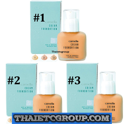 Camella Cream Foundation Soft & Smooth Retouch Free lightweight JAPAN brand set
