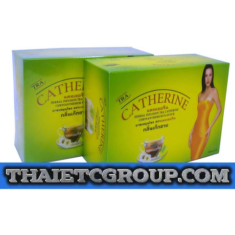 2 Boxes CATHERINE CHRYSANTHEMUM SLIMMING HERBAL WEIGHT LOSS DETOX TEA 64 teabags