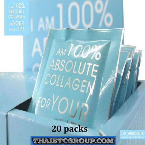 DR. ABSOLUTE 100% PURE COLLAGEN DRINK POWDER FROM GERMANY WHITENING 20 Cups