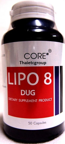 CORE LIPO 8 Dietary Supplement Natural Weight Loss Pills Garcinia Extract 50 tab